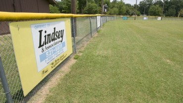 New Outfield Fence at the Park
