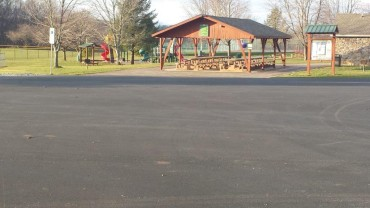 Paving the Community Park Parking Lot