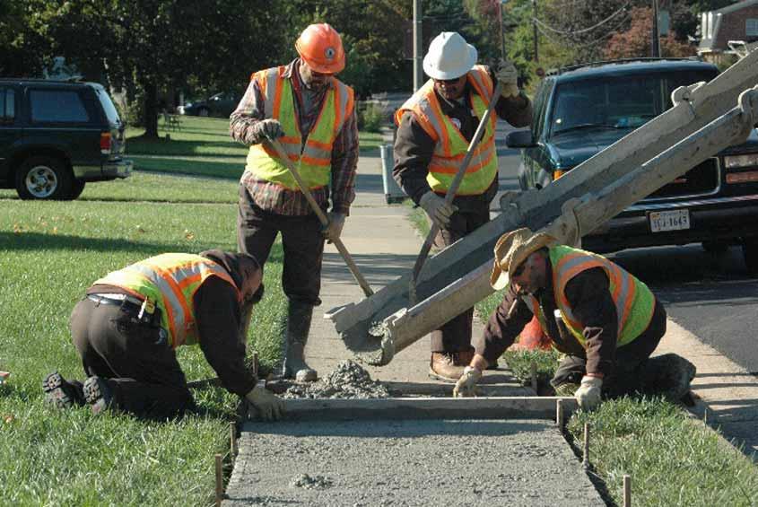 Curb and Sidewalk Repairs on Hanover Street